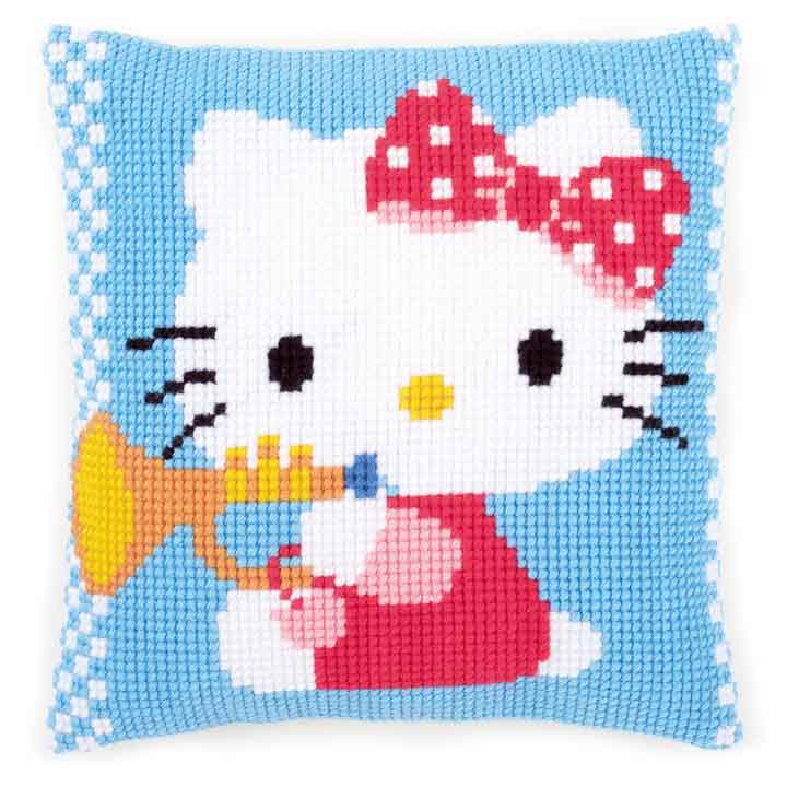 Vervaco Cross Stitch Cushion: Hello Kitty Trumpet