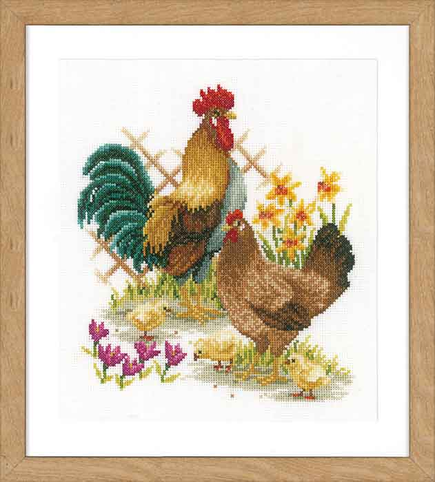 Vervaco Counted Cross Stitch Kit: Chicken Family | PN_0156469