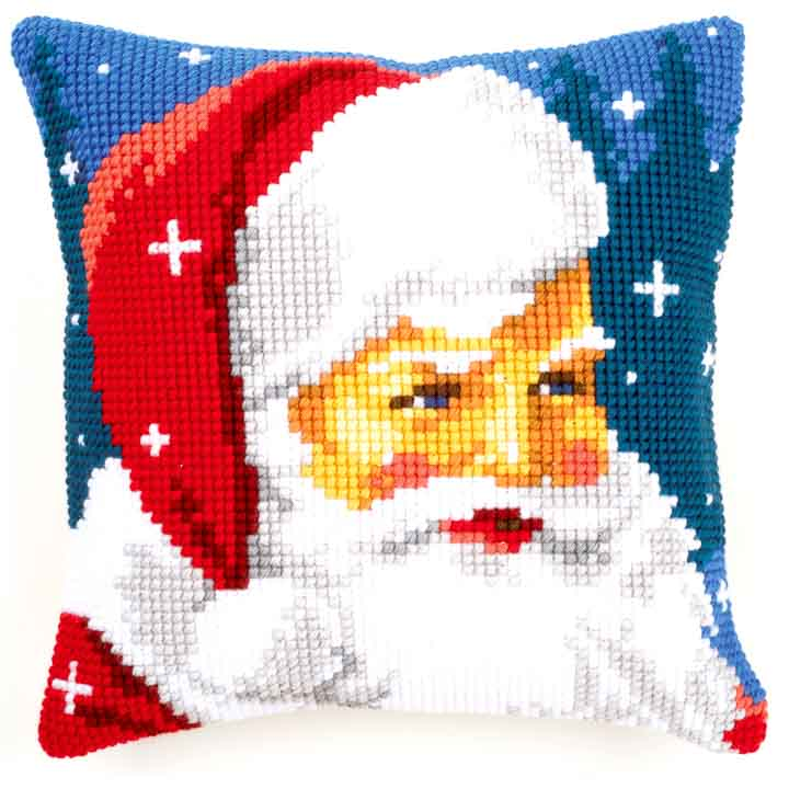 Vervaco Cross Stitch Cushion: Kind Santa Seasonal CSCK