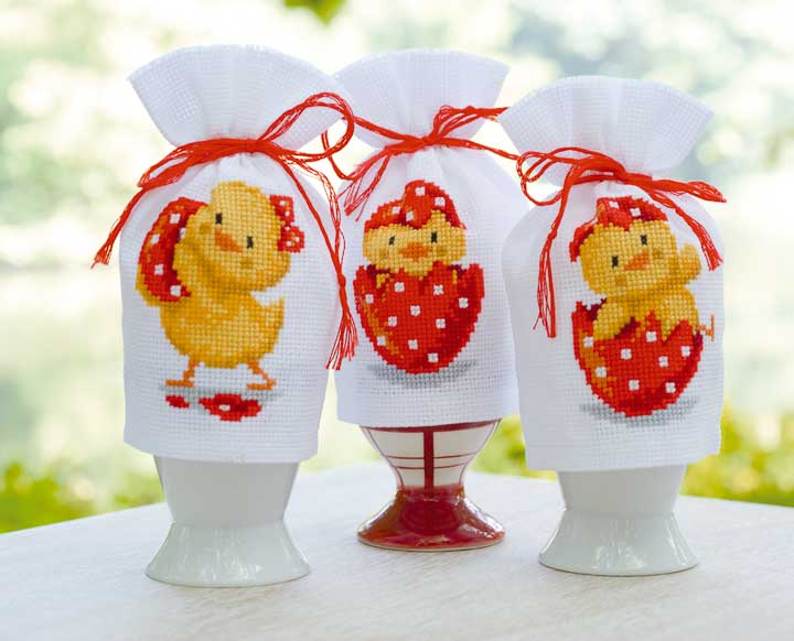 Vervaco Counted Cross Stitch Kit: Egg Cosy: Happy Easter 3