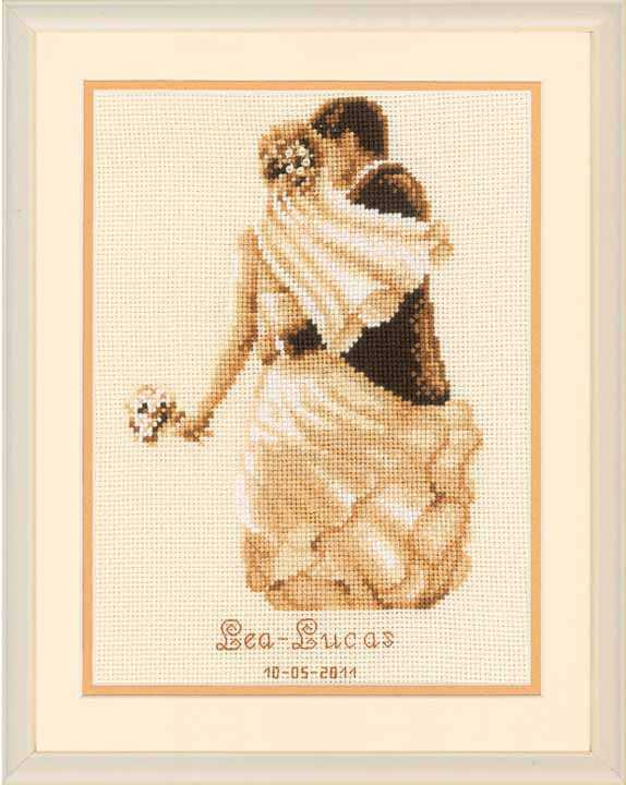 Vervaco Counted Cross Stitch Kit: Wedding Record: Private Moment