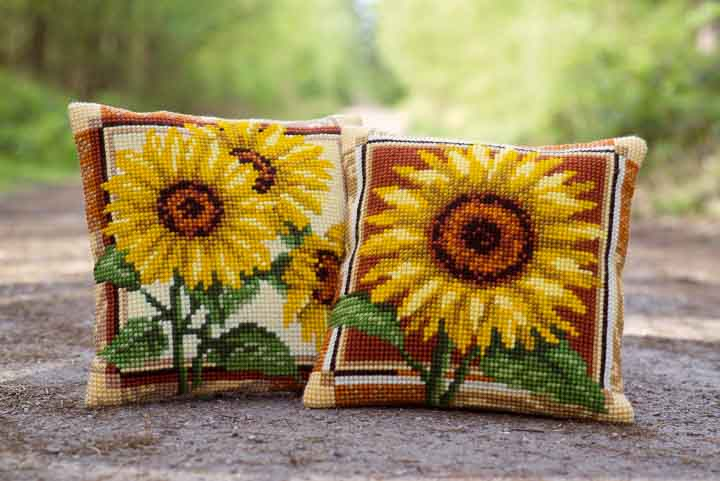 Vervaco Cross Stitch Cushion: Sunflower