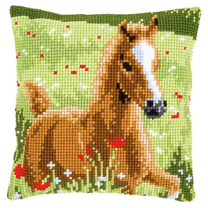 Vervaco Cross Stitch Kit: Cushion: Foal | PN_0157427 Animals & Birds CSCK