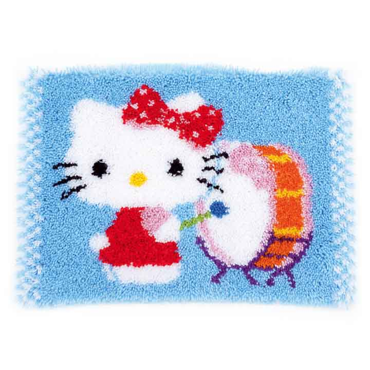 Vervaco Latch Hook Rug: Hello Kitty Drumming