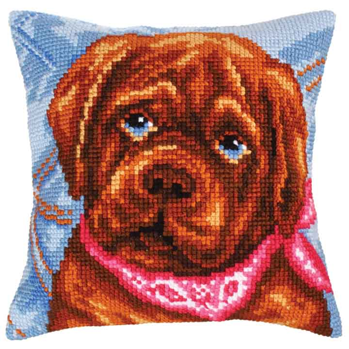 Collection D Art Cross Stitch Cushion:  Dog's Melancholy