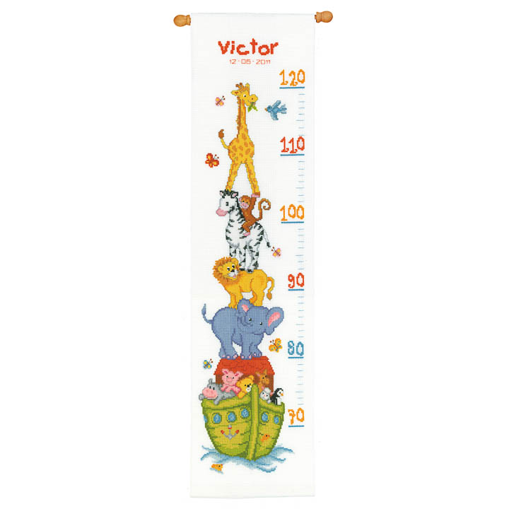 Vervaco Counted Cross Stitch Kit: Height Chart: Noah's Ark Height Charts CSK