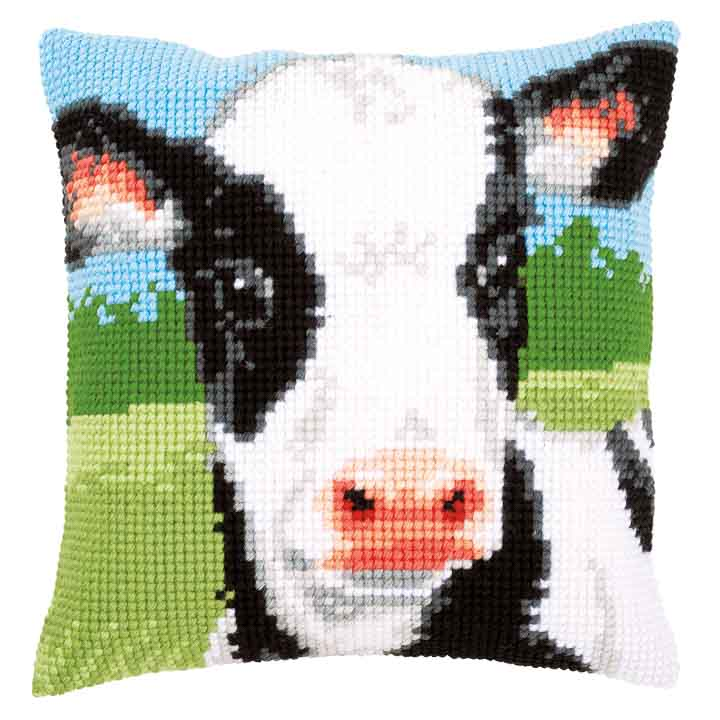 Vervaco Cross Stitch Cushion Kit: Cow