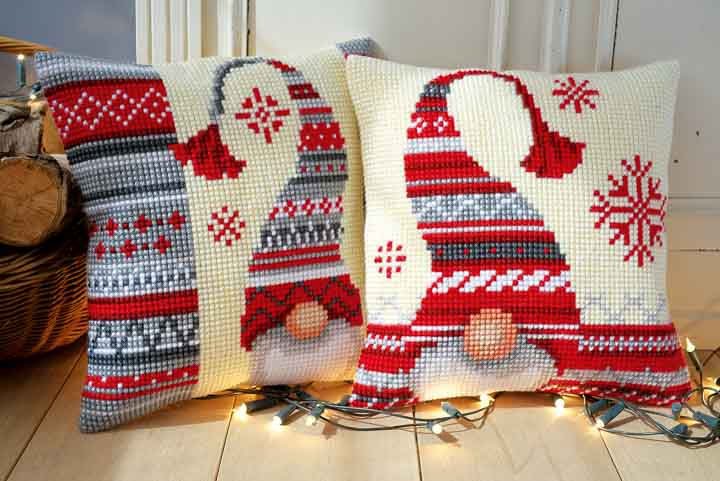 Vervaco Cross Stitch Cushion: Christmas Elf 2 Seasonal CSCK