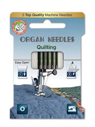 Organ Quilting Sewing Needles Mix Sizes 75 & 90 | 5 Needles Per Pack