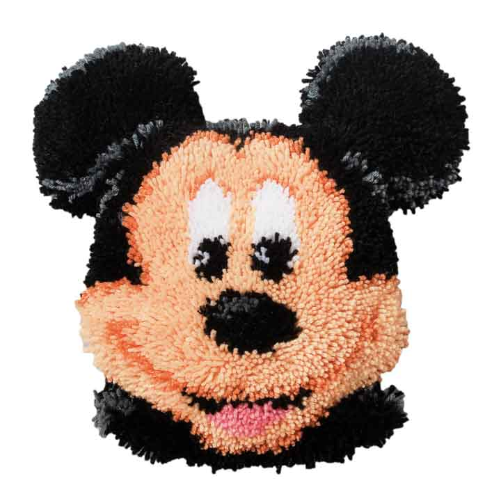 Vervaco Latch Hook Kit: Shaped Cushion: Mickey Mouse