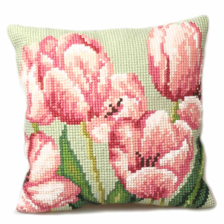 Collection D Art Cross Stitch Cushion: Tulip (Right)
