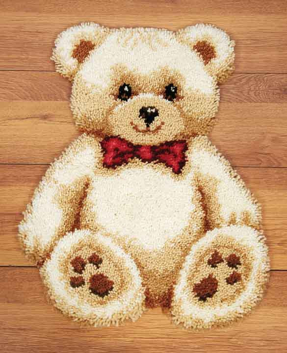 Vervaco Latch Hook Kit: Rug: Teddy Latch Hook Rug & Wall Hanging Kit