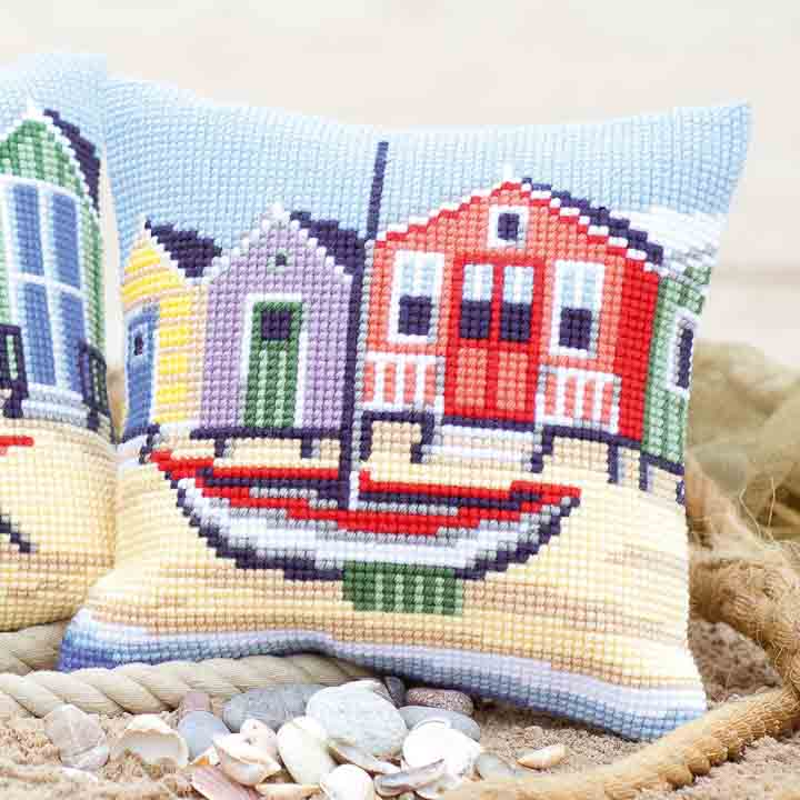 Vervaco Cross Stitch Cushion: Boat Cars & Transport