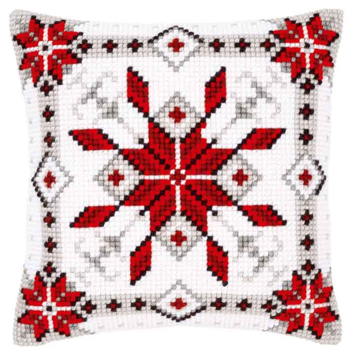 Vervaco Cross Stitch Cushion: Snow Crystal I