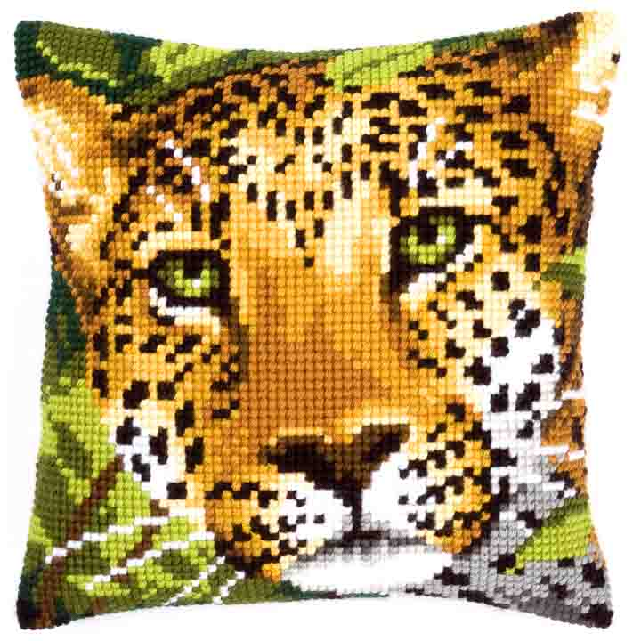 Vervaco Cross Stitch Cushion: Leopard