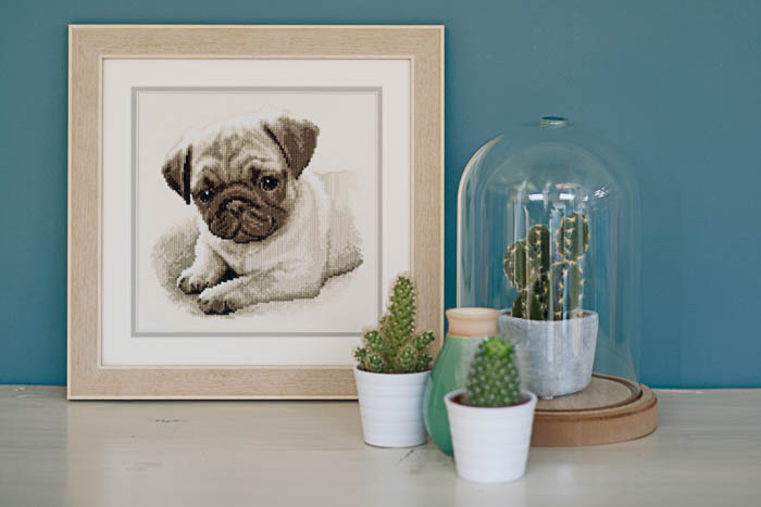 Vervaco Counted Cross Stitch Kit: Pug Dog | PN_0169650  2