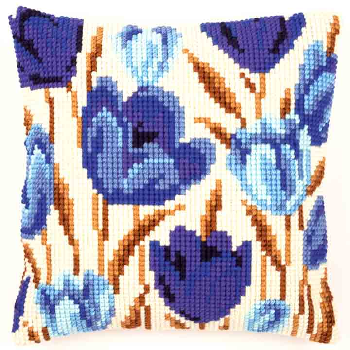 Vervaco Cross Stitch Cushion: Crocus Flowers & Nature CSCK