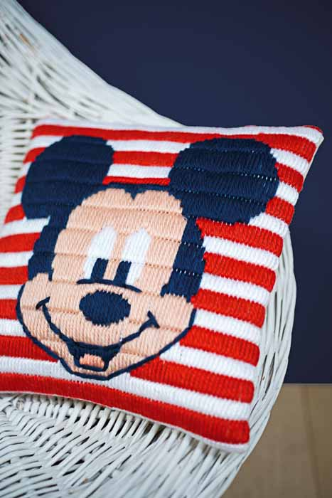 Vervaco Long Stitch Kit: Cushion: Disney: Mickey Mouse | PN_0169220 Long Stitch Cushion 2