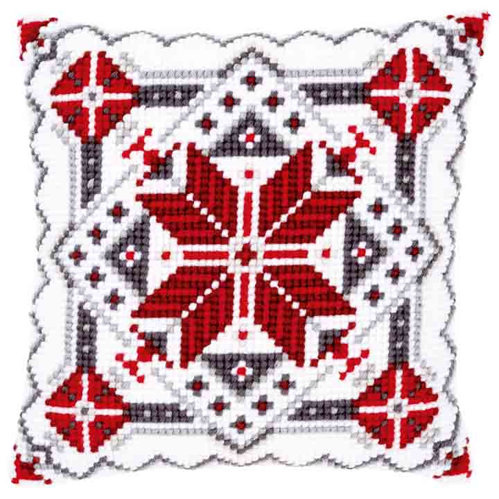 Vervaco Cross Stitch Cushion: Snow Crystal II Patterns CSCK