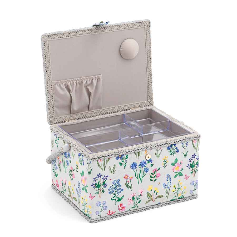 HobbyGift Sewing Box (L): Rectangle: Spring Garden | MRL_272 Tree Print Sewing Box 2