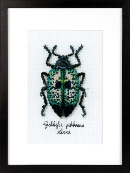 Vervaco Counted Cross Stitch Kit: Blue Beetle Insects & Bugs CSK