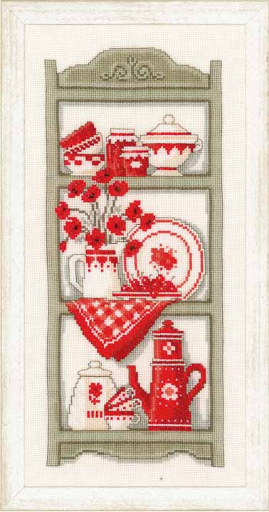 Vervaco Counted Cross Stitch Kit: Kitchen Shelves Leisure & Hobbies CSK