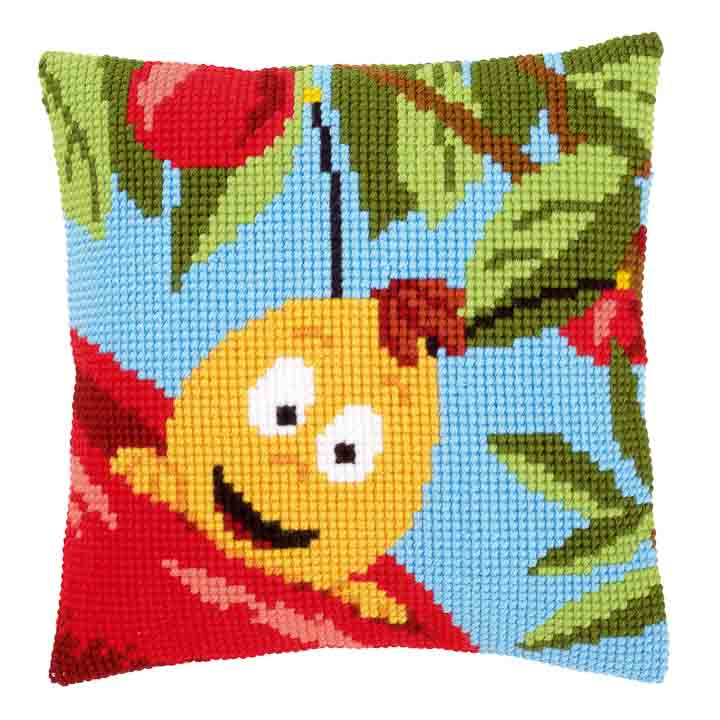 Vervaco Cross Stitch Cushion: Willy and Red Apple Characters CSCK