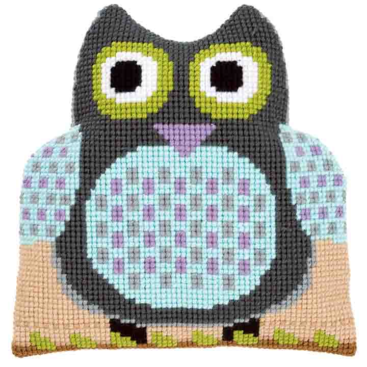 Vervaco Cross Stitch Cushion: Shaped: Owl Birds CSCK