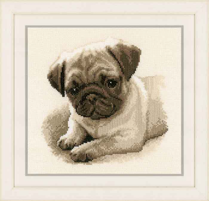 Vervaco Counted Cross Stitch Kit: Pug Dog | PN_0169650