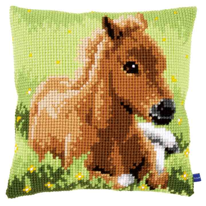 Vervaco Cross Stitch Cushion: Brown Foal