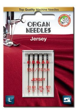 Organ Jersey Sewing Needles | Mix Sizes 70 80 90 & 100 | 5 Needles Per Pack
