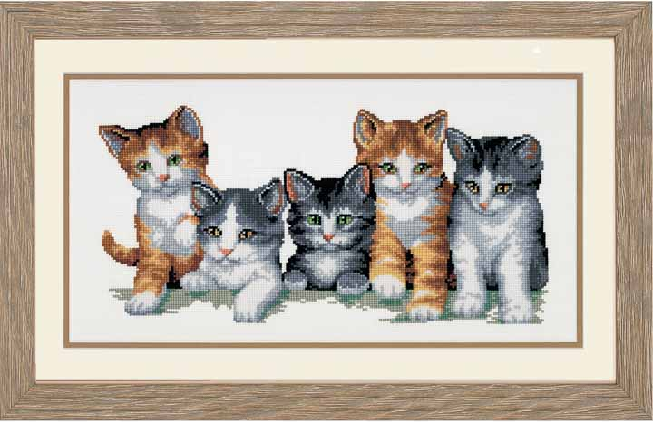 Counted Cross Stitch Kit: We Are Family Cats & Dogs CSK