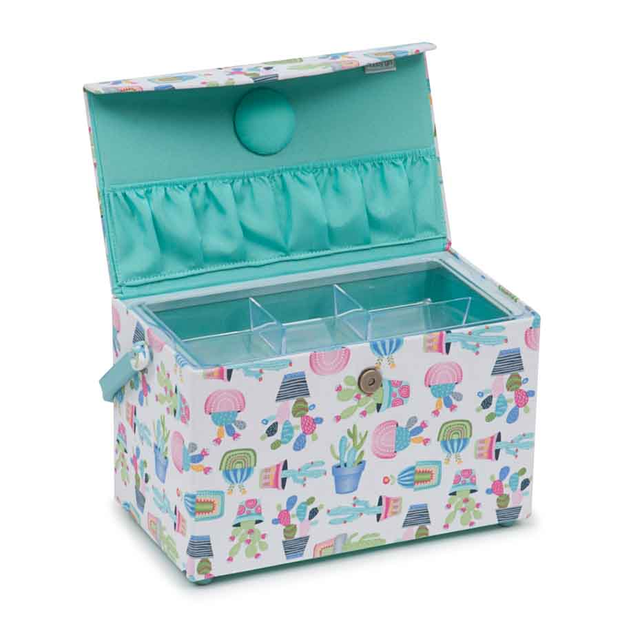 HobbyGift HGFB_459 | Classic Collection: Fold Over Sewing Box: Cactus Party Tree Print Sewing Box 2