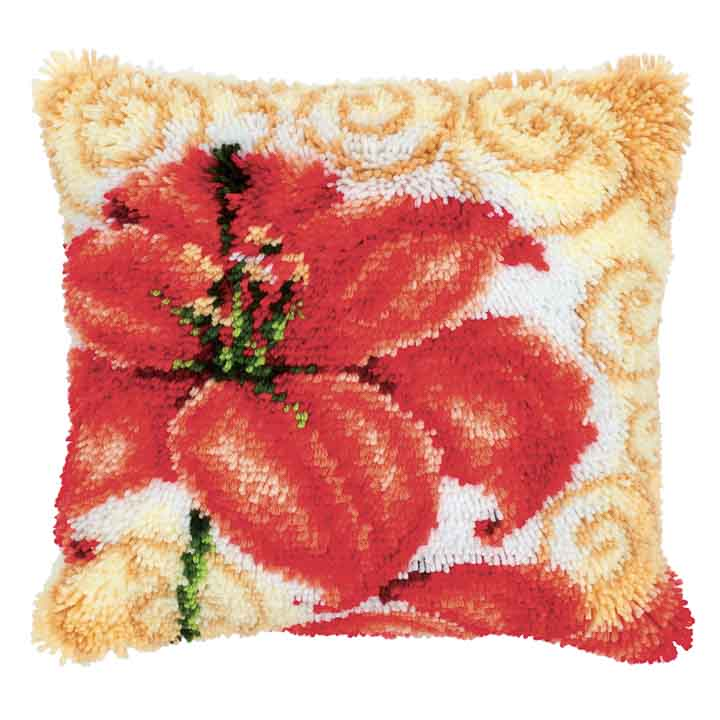 Vervaco Latch Hook Cushion: Lily