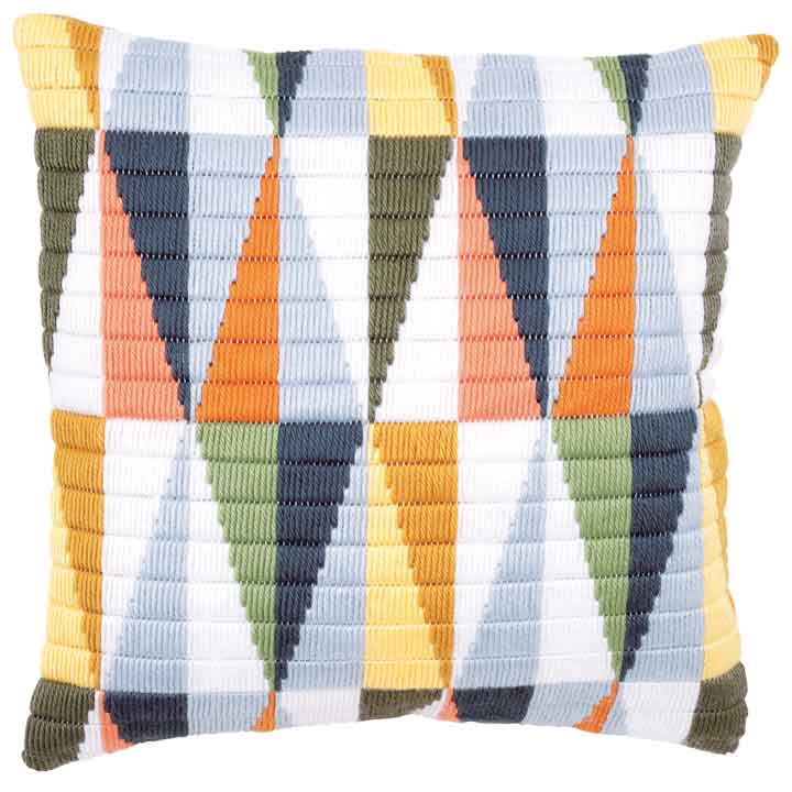 Vervaco Long Stitch Cushion: Triangles