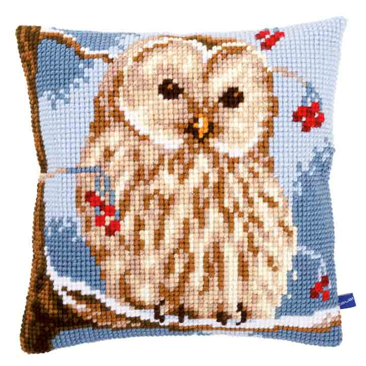 Vervaco Cross Stitch Cushion: Winter Owl Animals & Birds CSCK