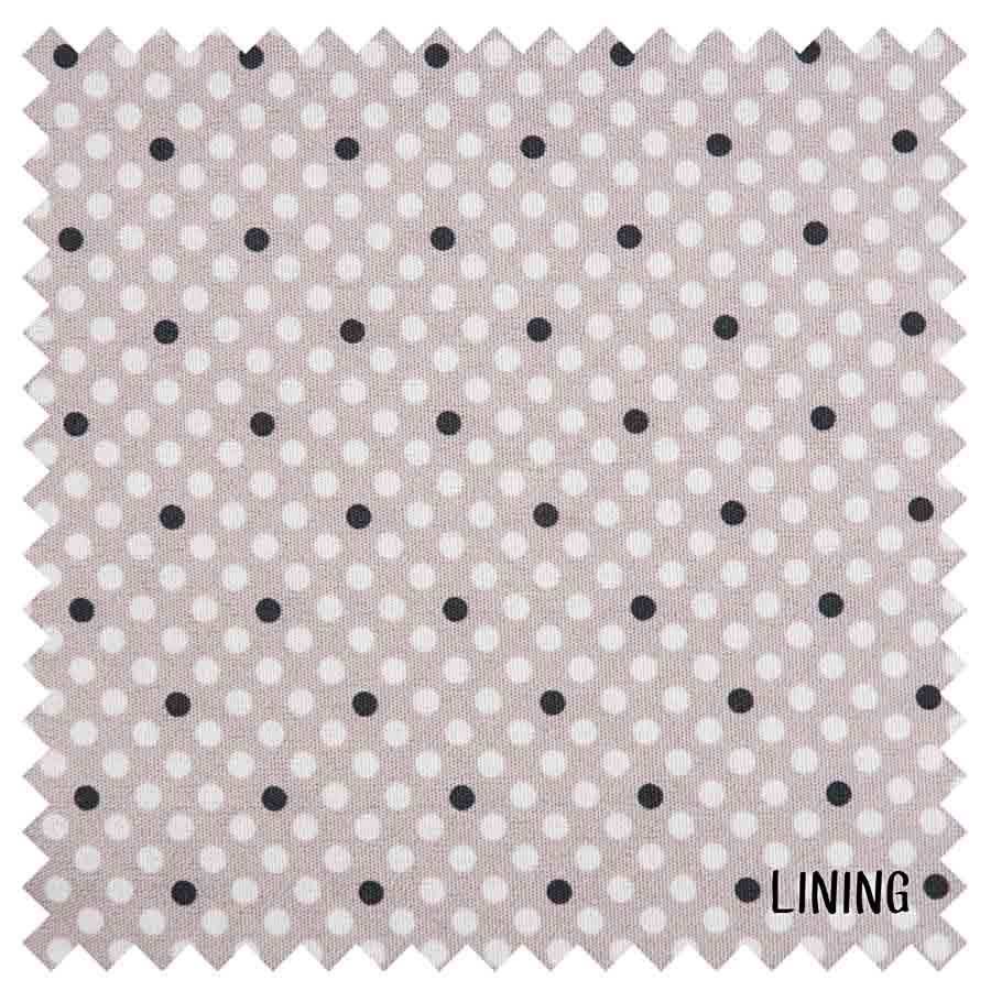 HobbyGift MR4660_268 | Sewing Machine Bag | Matt PVC | Grey Linen Polka Dot Sewing Machine Bags  2