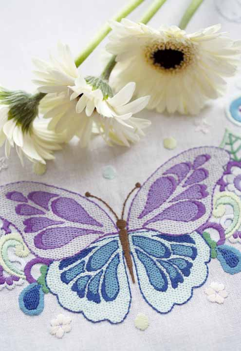 Vervaco Embroidery Kit: Runner: Butterfly Splendour