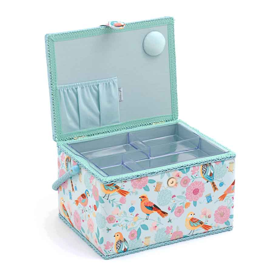 HobbyGift Sewing Box (L): Rectangle: Birdsong | MRL_275  2