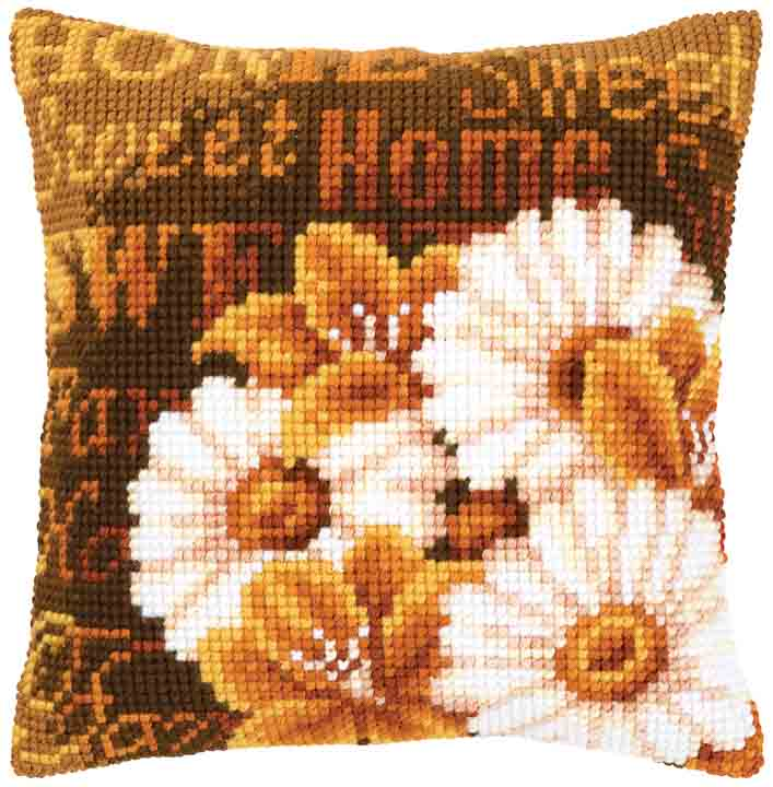Vervaco Cross Stitch Cushion: Daisies