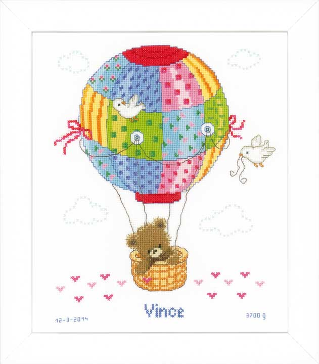 Vervaco Counted Cross Stitch Kit: Hot Air Balloon Leisure & Hobbies CSK