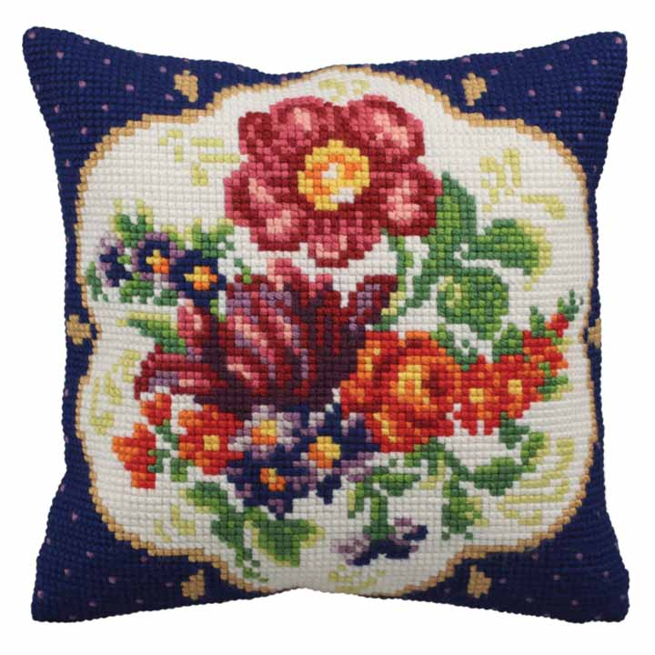 Collection D Art Cross Stitch Cushion: Meissen (Right)