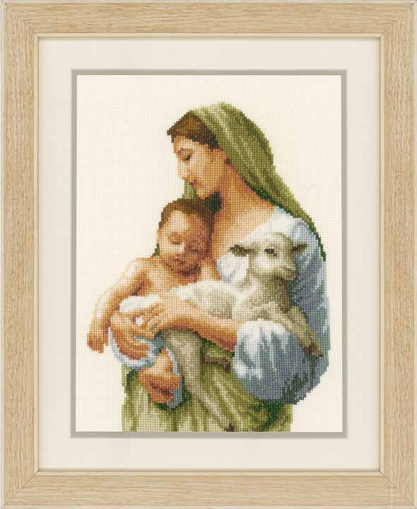 Vervaco Counted Cross Stitch Kit: Mary & Jesus Seasonal CSK