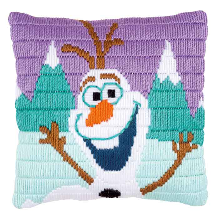 Vervaco Long Stitch Kit: Disney: Cushion: Frozen Olaf | PN_0169170