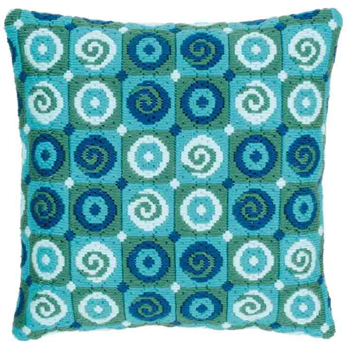 Vervaco Long Stitch Cushion: Swirls