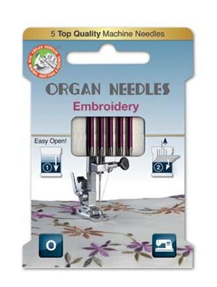 Organ Embroidery Sewing Needles | 75 | 5 Needles Per Pack