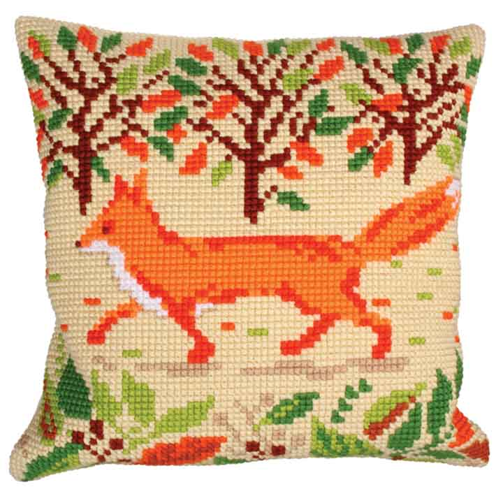 Collection D Art Cross Stitch Cushion: Red Fox Animals & Birds CSCK