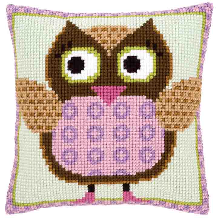 Vervaco Cross Stitch Cushion: Miss Owl Birds CSCK