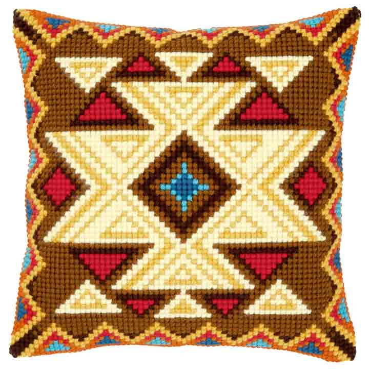 Vervaco Cross Stitch Cushion: Geometric: Motif I Patterns CSCK
