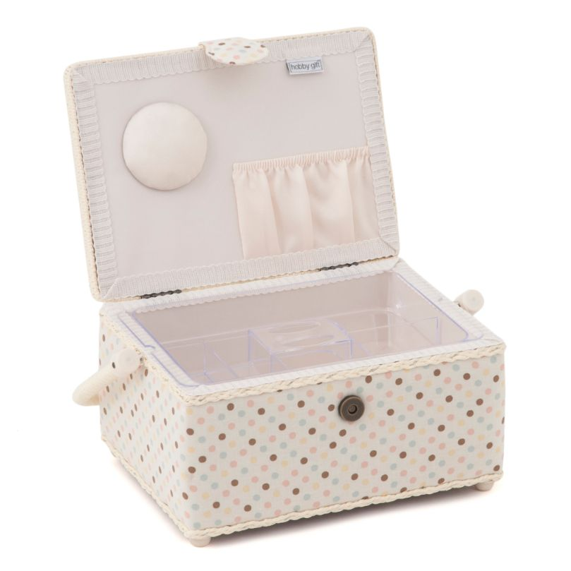 HobbyGift HGM_551 | Sewing Box (M) | Applique Owl Bird Print Sewing Box 2